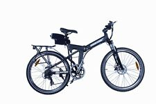 Black Folding E Bike 2015 Foldable Electric Mountain Bicycle 7 Speed Camping RV