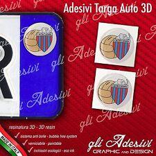 2 Adesivi Stickers bollino 3D Resinato targa Auto Moto CATANIA calcio