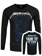 Metallica T-Shirt Fade To Black Long Sleeve Men's Black