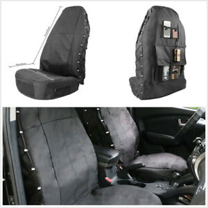 1Pcs Oxford Cloth/PU Multi-Pockets Seat Cover Universal Fit For Car Front Seat