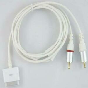 Phono Cable With Dock Connector For Apple iPod Touch Mini (All Generations)