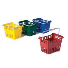 Cestino spesa in plastica per supermercato - 30 litri - ROSSO