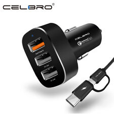 Car Charger Quick charge - 3 USB ports SAMSUNG IPHONE LG SONY HUAWEI HTC Xiaomi