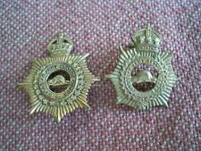 WW1 CEF Canadian Army Service Corps Collar Badges