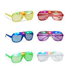 Relaxdays Partybrille mit Led-licht leuchtend Atzenbrille