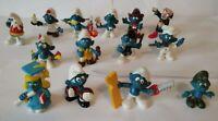 Lot of 14 vintage Smurfs figurines 1978 -1982