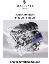 MASERATI QUATTROPORTE F136 ENGINE WORKSHOP MANUAL ENGLISH MANUALE RIPARAZIONE CD