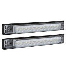 "6"" x 1"" Blue Led RV Utility Strip Light Bar Slim Line Boat Lamp 2-Pack"