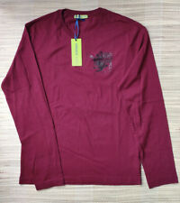 Versace Jeans men's burgundy long sleeves T-shirt size M