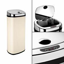 Dihl 30L 42L 50L Rectangle Cream Sensor Kitchen Waste Dust Bin Automatic