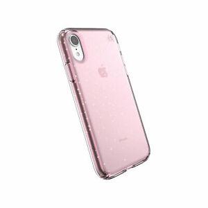 Speck Case Presidio Clear + Glitter Bella Pink with Gold Glitter iPhone XR