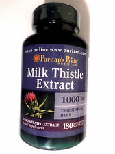 Milk Thistle Concentrated Extract Silybum Marianum Seed 1000Mg 180 Pills Softgel