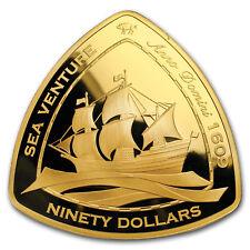 2006 Bermuda 5 oz Proof Gold $90 Sea Venture Triangle
