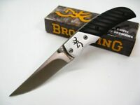 Browning 5662 Black Prism II 2 Plain Folder Folding Linerlock Pocket Knife