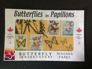CANADA 1988 NIAGARA PARKS BUTTERFLIES STAMPS
