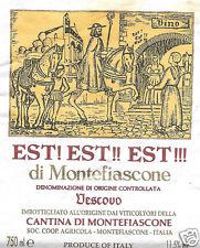 Etichetta Vino Est Est Est di Montefiascone (Viterbo) Vescovo .
