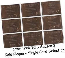 Star Trek TOS Original Series Season 3 - Gold Plaque Single Chase Card Selection