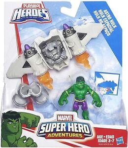 Playskool Heroes Super Hero Adventures Astro Hulk Figure & Aircraft Ages 3-7