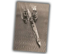 "War U-Boats German submarine U-234 surrenders Photo WW2 Glossy ""4 x 6"" inch X"