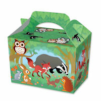 Boys Girls Woodland Animals Picnic Food Loot Lunch Party Treat Box Boxes