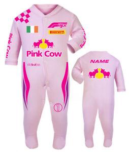 Pink Cow F1 Baby Race/Sleep Suit