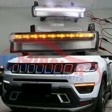 Daytime Running Light White + Yellow For JEEP Compass 2017-2020