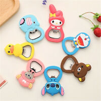 Cute Cartoon Silicone Bottle Opener Metal Beer Bar Tool Claw With Magnet Fridge