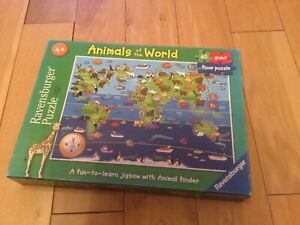 Ravensburger Puzzle Animals of the World Giant Floor Puzzle 60 piece, pre loved.