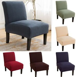 1/2/4X Slipper Chair Slipcover Accent Chair Protector Home Armless Chair Cover