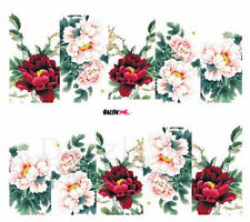Nail Art Sticker Water Decals Transfers Decorative Art Flowers Floral (DC271)