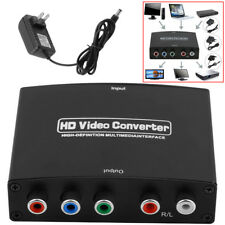 HDMI to 5RCA RGB Component YPbPr Video +R/L Audio Adapter Converter Plus Chager