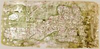 Map Antique After Gough 14th Century Britain Large Replica Canvas Art Print