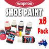 BULK Waproo Shoe Paint Colour Change for Leather Synthetic x8 PAINTS