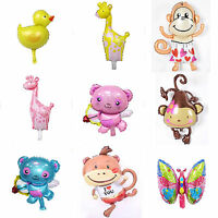 Animal Head Shape Foil Balloon Zoo Birthday Wedding Party Supply Baby Decoration