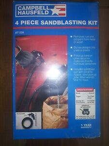 Sand Blaster with 10 Foot Hose, Sand Blast Gun, and Wrench - Siphon Feed...