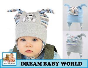 Rich Baumwolle Jungen Mütze mit Futter Frühjahr 9-12 Monate Binden Infant Kids Baby Boy