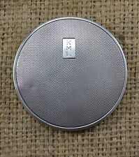 VINTAGE 1940s ART DECO STERLING SILVER CIRCULAR ENGINE TURNED POWDER COMPACT