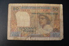 DUO  BILLETS  MALGACHE   50 + 100 FRS  ETAT COURANT  !!(1/03/16)