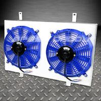 ALUMINUM 10-BLADE RADIATOR FAN SHROUD FITS 95-99 NISSAN MAXIMA VQ30DE BLUE