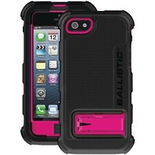 BALLISTIC HC0956-M365 iPhone 5 Hard Core Case (Black/Pink) with holster, Retail