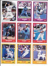 Michael Saunders plus 8 more Blue Jays baseball card lot.