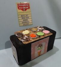 Ice Cream Counter and Sign Dollhouse Miniatures 1:12 Gailslittlestuff