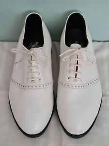 Stylo White Brogue Style Leather Golf Shoes Men's Boy's UK7