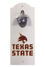 TEXAS STATE UNIVERSITY WALL MOUNTED BOTTLE OPENER-TEXAS STATE BOBCATS