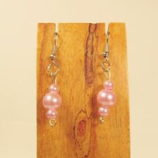 Wholesale Lot 12 PCS Handmade Glass Pearl Drop Earrings 4 COLORS