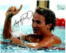 Aaron Peirsol Signed Autographed Team U.S.A. Olympic Swimming 8x10 Pic. B