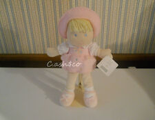 """Carters Sweet Daisy plush 14"""" doll pink removable flowered dress 2004 with TAGS"""