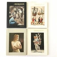 Horizon: A Magazine of the Arts 1977 Vintage Books Lot Of 4 Hardcover