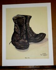 Worn Out by Kaye Bartley Cardwell Old Shoes Work Boots