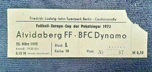 Orig. Ticket BFC Dynamo Berlin Atvidaberg FF Eintrittskarte DDR biljett Sverige
